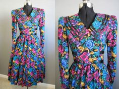 Country Floral Dress Vintage 1980s Tea by InTheHammockVintage, $20.00