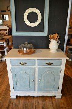 Aqua and white Buffet/Dresser/Tv stand/Coffee station
