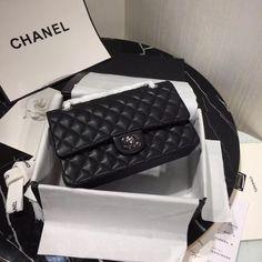 Chanel Caviar Medium Classic Double Flap Bag – black/gold – Famous Last Words Classic Handbags, Vintage Handbags, Chanel Quilted Handbag, Chanel Online, Chanel Handbags, Chanel Bags, 2017 Handbags, Replica Handbags, Coco Chanel