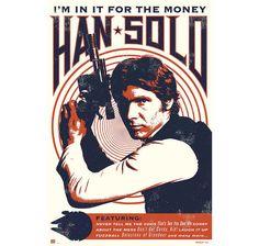 Star Wars Poster Han Solo I'm in it for the money. Hier bei www.closeup.de