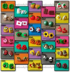 earrings  fimo  polymer clay  handmade by CreationsbyMD on Etsy, $4.00