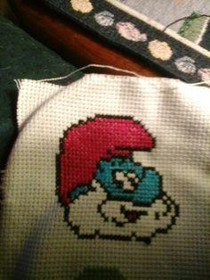 Papa smurf x stitch