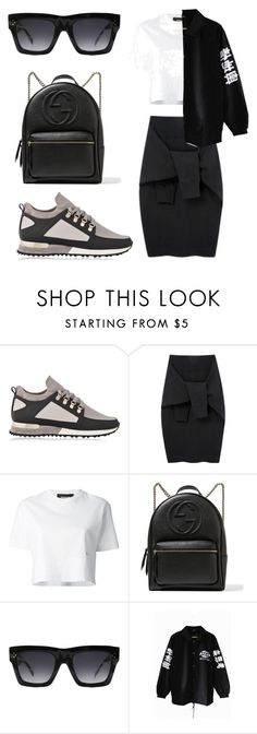 """""""keeping it simple :-)"""" by salomemonametsi ❤ liked on Polyvore featuring MALLET, Le Ciel Bleu, Dsquared2, Gucci and CÉLINE"""