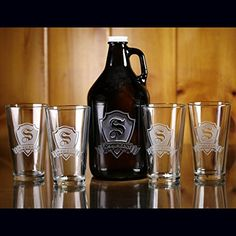 Personalized Growler and Pub Set (m30) -- Check this awesome product by going to the link at the image.