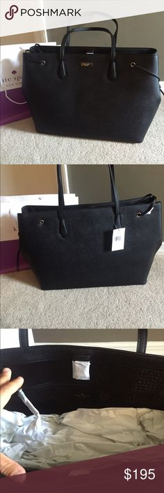♠️Kate Spade XL Ari Tote♠️ ⭐️️NWT Gorgeous Kate Spade New York Ari Laurel Way Tote ♠️Saffiano Leather, very spacious, & perfect for everyday use♠️Interior: 2 slip pockets & 1 Zip compartment. 14Karat Gold plated hardware ♠️Protective feet on the bottom ♠️Tote is XL so you can fit a laptop, books etc..♠️Dimensions 18.5L x 12H x 8W .🔴NO TRADES🔴💥Less on Ⓜ️💥 kate spade Bags Totes