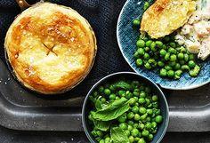Creamy Australian prawn pot pies with minted peas recipe - 9Kitchen