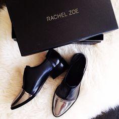 Gorj shot of the #rachelzoe Raven oxfords by eat. sleep. wear.