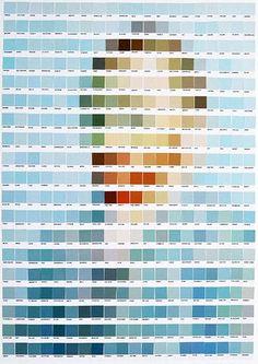 Les créations de l'artiste écossais Nick Smith, basé à Londres, qui utilise les cartes du célèbre nuancier Pantone pour rendre hommage aux grands classiq