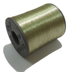1 Spool Metallic white Gold Embroidery Thread, Hand/Machine Embroidery Thread…
