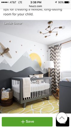 Mountains in girl room roo? Painted mountains - dark gray and white top