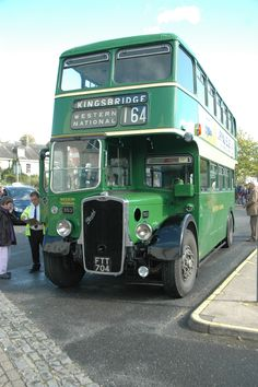 Classic Devon based Western National Omnibus Company liveried Bristol type double decker Bus