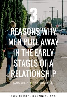 Why do men pull away in the early stages of a relationship? Find out 3 main reasons why and what you can do about it. - relationships and dating Relationship Stages, Relationship Problems, Relationships Love, Healthy Relationship Tips, Healthy Relationships, A Guy Like You, Man In Love, Stage Quotes