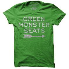 Green Monster Seats T-Shirt-Retro Red Sox T-Shirt- $20.00