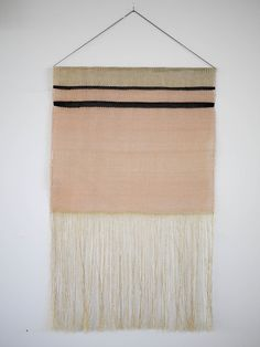 Wall Hangings Home Decor Trends – Cute Wall Decorations – Caroline McKendrick – weberei Weaving Textiles, Weaving Art, Tapestry Weaving, Hand Weaving, Textile Patterns, Textile Art, Weaving Wall Hanging, Wall Hangings, Color Schemes