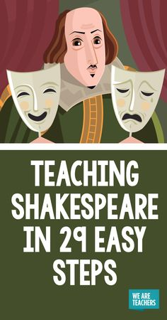 Teaching Shakespeare in 29 Easy Steps - WeAreTeachers Teaching Shakespeare this year? To laugh or not to laugh, there is no question. This post will make you LOL through the pain! High School Classroom, English Classroom, English Teachers, Future Classroom, Drama Teacher, Drama Class, Teaching Theatre, Teaching High Schools, Theatre Games