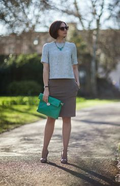 Nude and pastels. Love the necklace. Check this look at ww.stylistnotes.co.uk