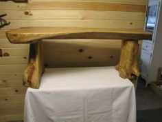 rustic wood furniture, log bedroom furniture, log benches, log stools in southwest virginia