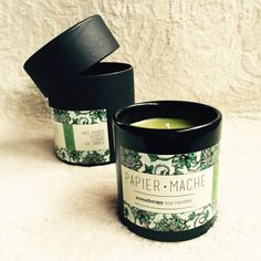 Papier Mache Sweet Spicy Hand Poured Soy Candle  #ceramic #jar #soy #candle #soya #soycandle