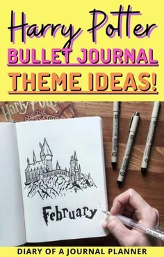Add a little magic to your bullet journal with a Harry Potter themed month! Get all the best ideas and inspiration here. #harrypotter #bulletjournaltheme #bulletjournalideas Bullet Journal Cover Page, Bullet Journal Hacks, Bullet Journal Printables, Bullet Journal Themes, Bullet Journal Inspiration, Journal Pages, Journal Ideas, Harry Potter Planner, Harry Potter Journal