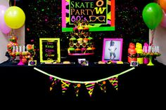 Neon Party  80's Party  Skate Party  by LillianHopeDesigns on Etsy, $35.00