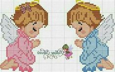 Cross Stitch Angels, Cross Stitch Bird, Cross Stitch Flowers, Cross Stitch Patterns, Knitting Patterns, Plastic Canvas Crafts, Plastic Canvas Patterns, Bible Songs For Kids, Space Theme Preschool
