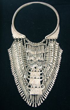 "Beautiful! China | Rare ceremonial Chinese ""lock"" necklace is Yao ethnic minority 
