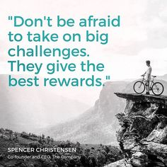 #ThursdayTruth  Dont be afraid to take on big challenges They give the best rewards. - Spencer Christensen Co-Founder and CEO The Company.  #ScienceAlwaysWins ... #Stream2Sea #MarineSafety #EcoConscious #Biodegradable #SkinCare #NaturalProducts #NaturalSunscreen #NonToxic #BodyCare #scuba #ScubaGirls #ScubaDiving #UnderwaterLife #SeaLife #CoralReef #ReefProtection #ProtectWhatYouLove #GetInvolved #CoralReefSafe #KeepTheOceanClean #CleanOcean #CoralReefSafeSunscreen