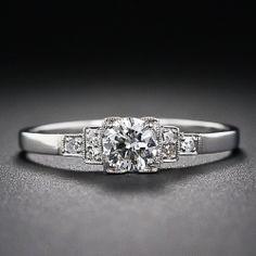 .30 Carat Diamond Art Deco Engagement Ring - 10-1-5854 - Lang Antiques http://www.langantiques.com/products/item/10-1-5854