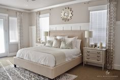 Neutral Master Bedroom by Sita Montgomery Interiors