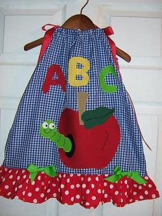 Boutique Appliqued Back To School Apple Worm by mistysboutique, $20.00