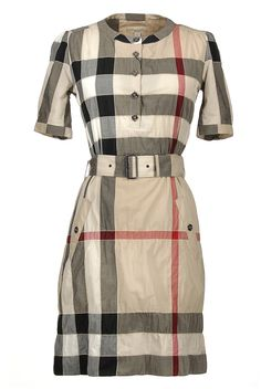 Botondi - Red Milano dress for woman - € 970 - silhouette with a form, soft neckline in silk , sleeves in giorgetto , buttons closure, dry clean Burberry Plaid, Burberry Dress, Burberry Brit, Classy Dress, Shirt Dress, Blouse, Kpop Store, Short Sleeve Dresses, Chic