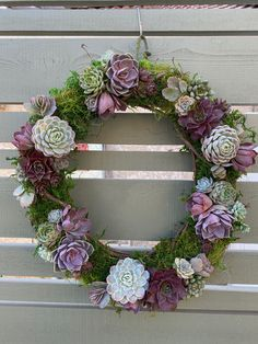 grapevine wreath with succulents for a funeral Funeral Arrangements, Succulent Arrangements, Succulents, Succulent Wreath, Grapevine Wreath, Grape Vines, Floral Wreath, Wreaths, Blog
