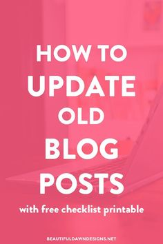 When visitors land on your old blog posts, you want to make sure your content is up to date, relevant, and in line with the style of your newer content. In this post, I'll go over the things you can do to update your blog posts.