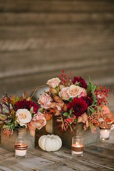 27 Incredible Ideas For Fall Wedding Decorations ❤ fall wedding decorations berries decor ideas Fall is a great season for weddings. Look at the amazing ideas how to include pumpkin, flowers and cranberries into fall wedding decorations. Fall Wedding Centerpieces, Fall Wedding Flowers, Fall Wedding Colors, Wedding Ceremony Decorations, Fall Flowers, Decor Wedding, Centerpiece Ideas, Pumpkin Wedding Decorations, Wedding Pumpkins