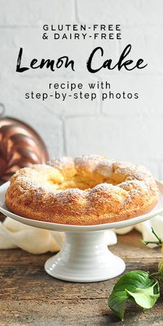 Lemon Cake using whole lemons which is gluten-free and dairy-free. Recipe with step-by-step photos #lemoncake #lemons #glutenfree #dairyfree #nigella #nigellalawson