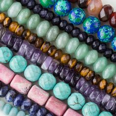 Large Hole Gemstone Beads from Cherry Tree Beads