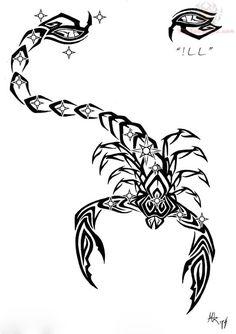 Big Tail Scorpion Tattoo Sample