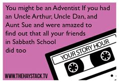 Visit www.thehaystack.tv for your Hub to Adventist Media. Like us on Facebook. #sda #adventist #sabbath #haystack #religious #church #church #humor #adventista
