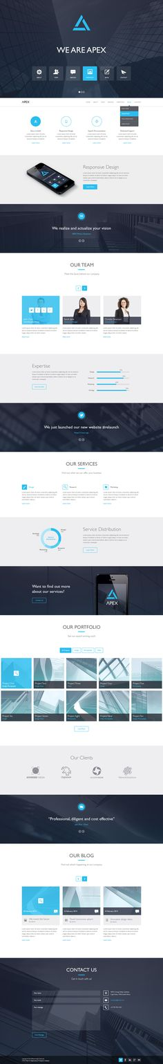 Menue anordnung als symbole siehe oberes drittel der website  Best WordPress Themes #awards #2014