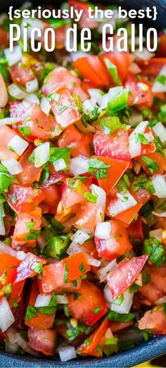 Recipes Snacks Appetizers Our go-to recipe for Mexican Pico De Gallo. Easy, excellent recipe for salsa. This pico de gallo is perfect with chips or on tacos, nachos, everything! The best and easiest appetizer and always a crowd pleasing salsa recipe. Yummy Recipes, Appetizer Recipes, Cooking Recipes, Healthy Recipes, Keto Recipes, Appetizer Dips, Crockpot Recipes, Dinner Recipes, Cooking Gadgets