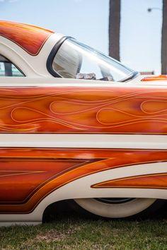 lizleggettphoto: Liz Leggett Photography - Kustom Kulture- I Live For This Shit Custom Paint Jobs, Custom Cars, Kustom Kulture, Airbrush Art, Pinstriping, Us Cars, Car Painting, Car Wrap, Cool Cars