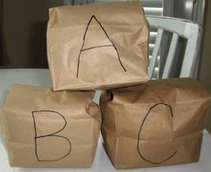 The Activity Mom: Paper Bag Letter Blocks