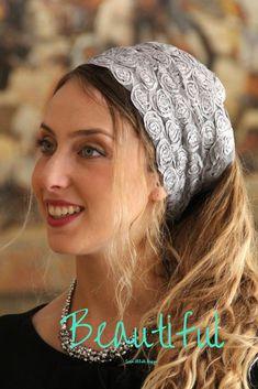Stunning Argent Headband, Amazing Bandana, Tichel, Hair Snood, Head Scarf, Head Covering, Jewish Headcovering, Scarf, Bandana, Apron http://etsy.me/2EIhGNR #accessories #hat #beige #wedding #thanksgiving #gold #saraattali