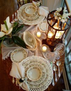 """I love this! Dinnerware """"Orchard"""" by Syracuse China Company. Chargers by Horchow featured on blog betweennapsontheporch blog. a neat site."""