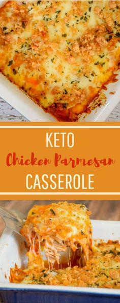 Keto Chicken Parmesan Casserole #keto #chicken