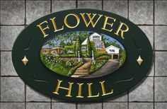 Flower Hill House Sign   Danthonia Designs