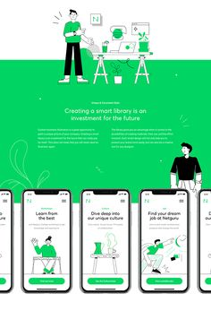 Netguru – Smart Illustration System on Behance Line Illustration, Business Illustration, Character Illustration, App Ui Design, Layout Design, Flat Design, App Design Inspiration, Ui Web, Design System