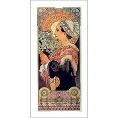fabric panel - painting by Alphonse Mucha (33)