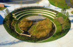 Project: Manassas Park Elementary School + Pre-K Location: Manassas Park, Virginia View: Outdoor classroom Architect: VMDO Architects, P. Plans Architecture, Landscape Architecture Design, Amphitheater Architecture, Architecture Diagrams, Architecture Portfolio, Nachhaltiges Design, Urban Design, Design Ideas, Rain Garden