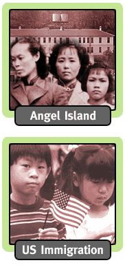 http://www.kqed.org/w/pacificlink/history/  This page gives a brief overview of Chinese American history with links to four other more specific subject areas: Angel Island, US immigration, US Foreign Policy, and China. There are links to helpful video and audio clips.